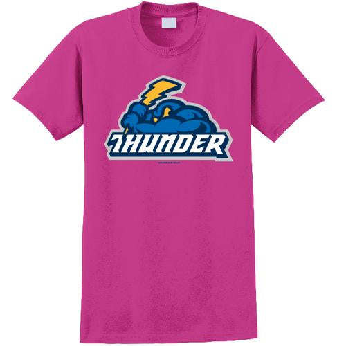 Trenton Thunder Adult Thunder/Cloudman Hot Pink t-shirt