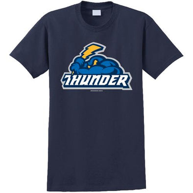 Trenton Thunder Adult Thunder/Cloudman navy t-shirt