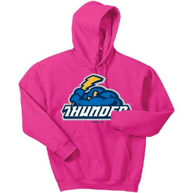 Trenton Thunder Adult Cloudman Hot Pink Hooded Sweatshirt