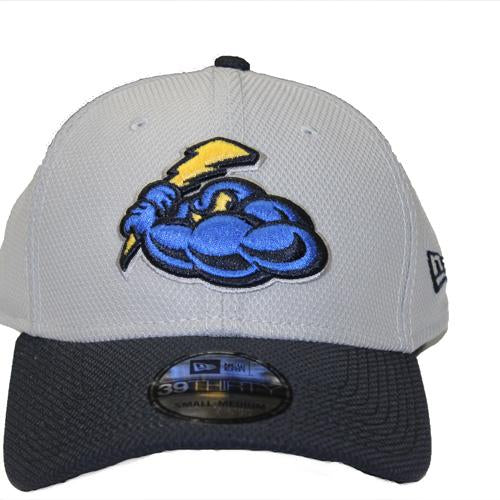 Trenton Thunder Adult Thunder Gray/Navy Flex Fit Cap