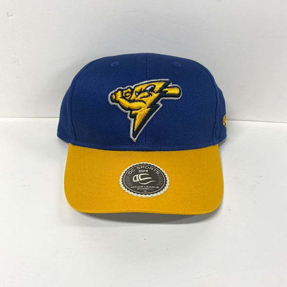 Thunder Youth Adjustable Bright Blue/Gold Cotton Cap