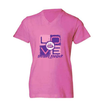 Trenton Thunder Youth Thunder Girls Yolo Pink t-shirt