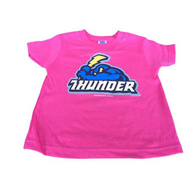 Trenton Thunder Toddler Pink Primary logo T-Shirt