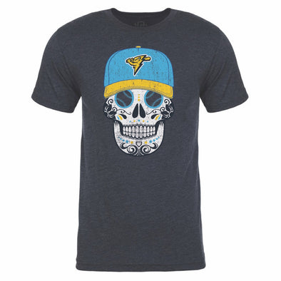 Adult Copa America Heather Navy Sugar Skull t-shirt
