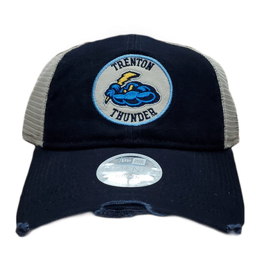 Trenton Thunder Women's Adjustable 920 Navy Trucker Distressed Cap