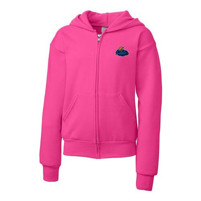 Trenton Thunder Youth Sangria (Hot Pink) Full Zip Sweatshirt