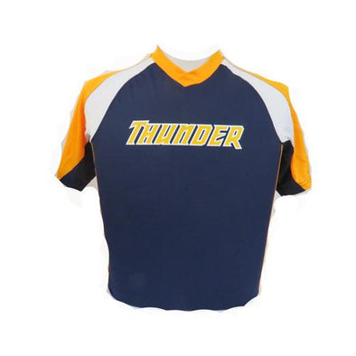 Trenton Thunder Youth Navy with Gold and White Shoulder and side panels Jersey