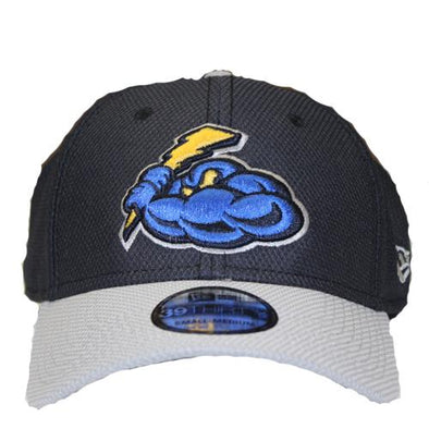 Trenton Thunder Adult Thunder Navy/Gray Diamond Era Flex Fit Cap