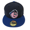Trenton Thunder NEC 5950 Pork Roll Slice Navy/Royal Logo Fitted Cap