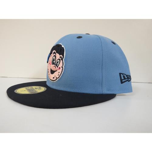 Trenton Thunder NEC 5950 Pork Roll Slice Sky Blue/Navy logo Fitted Cap