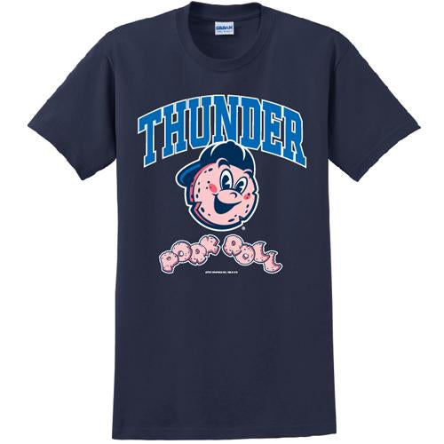 Trenton Thunder Adult Pork Roll/Thunder Navy Dri-fit t-shirt
