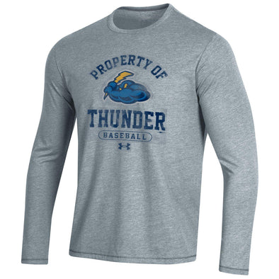 Under Armour Bi-Blend True Grey Heather Long Sleeve Tee UM-5139