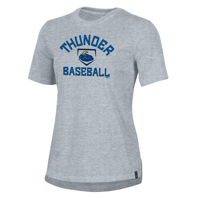 Under Armour Women's 0894 Steel Heather Performance Cotton Tee