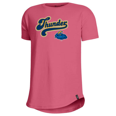 Trenton Thunder Youth Under Armour 0630 Pink Lemonade t-shirt