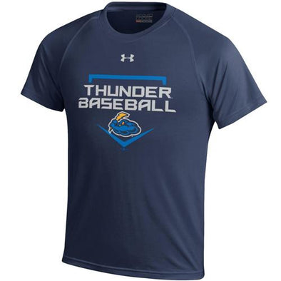Trenton Thunder Youth Under Armour 680 Navy Thunder Baseball t-shirt