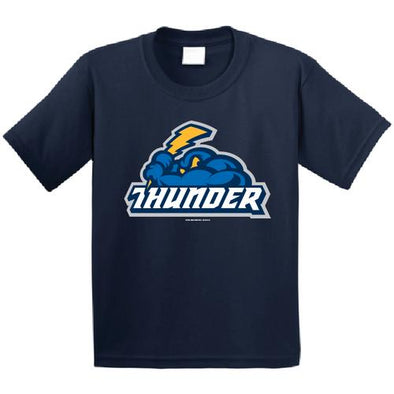 Trenton Thunder Youth Thunder/Cloudman navy t-shirt