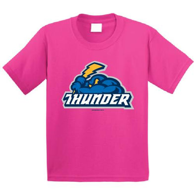 Trenton Thunder Youth Thunder/Cloudman pink t-shirt
