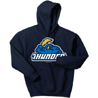 Trenton Thunder Youth Thunder Cloudman Navy Drifit Polyester Hooded Sweatshirt