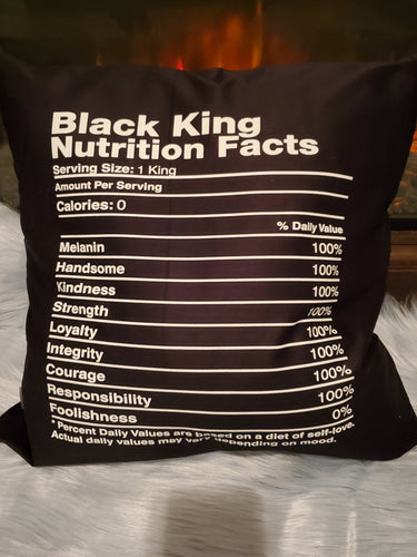 Black King Decorative Pillow