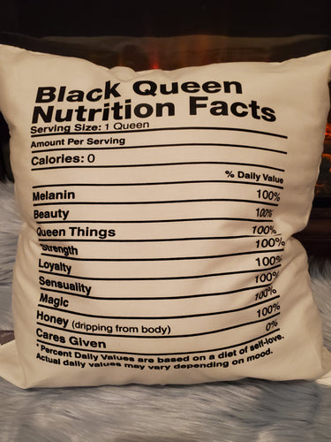 Black Queen Decorative Pillow