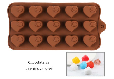 Silicone Chocolate Mold 29 Shapes - KosmoBlue