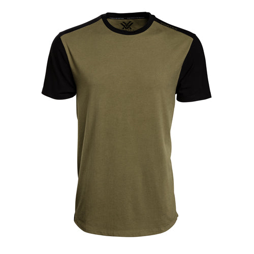 VORTEX MEN'S GREEN-BLACK T-SHIRT X-LARGE