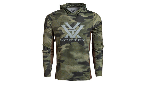 VORTEX PINE CAMO SUN SLAYER LONG SLEEVE HOODIE X-LARGE