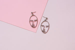 Picasso Face Abstract Earrings