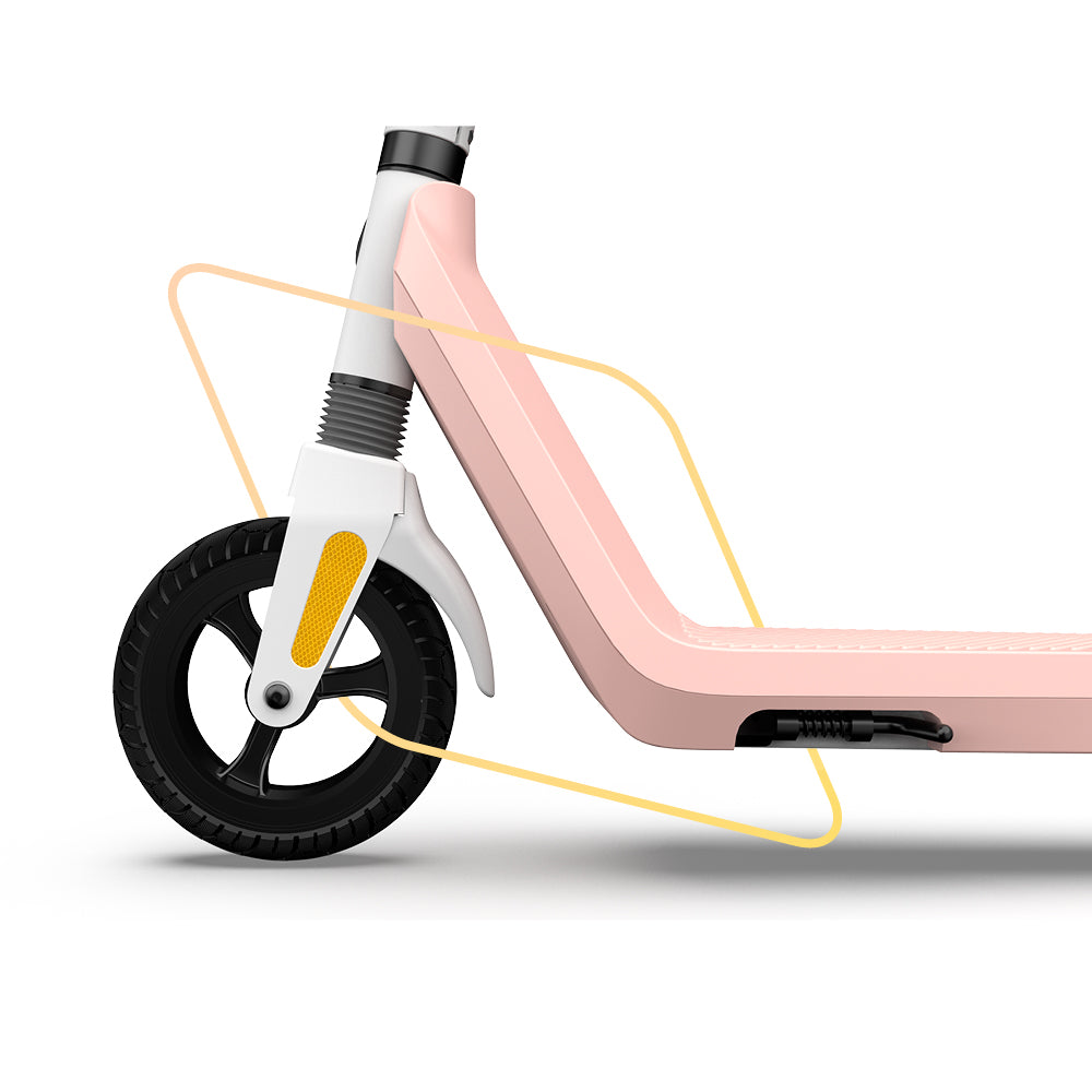 Okai-Electric-Scooter-&-Electric-Bike-Manufacturer-ES50-front-wheel-and-suspension