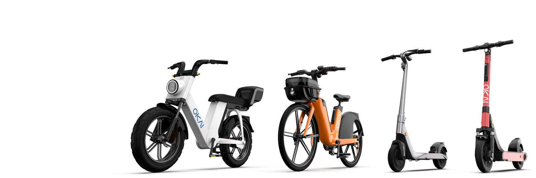 Okai-Electric-Scooter-&-Electric-Bike-Manufacturer-micromobility-vehicles-overview-of-4-okai-products