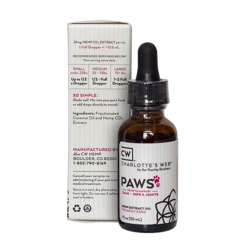 Charlotte's Web – Paws Hemp Extract for Dogs