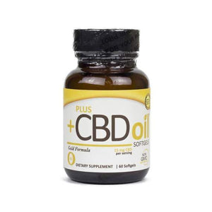 PlusCBD Oil – Hemp Softgels 60 Count (900mg CBD)