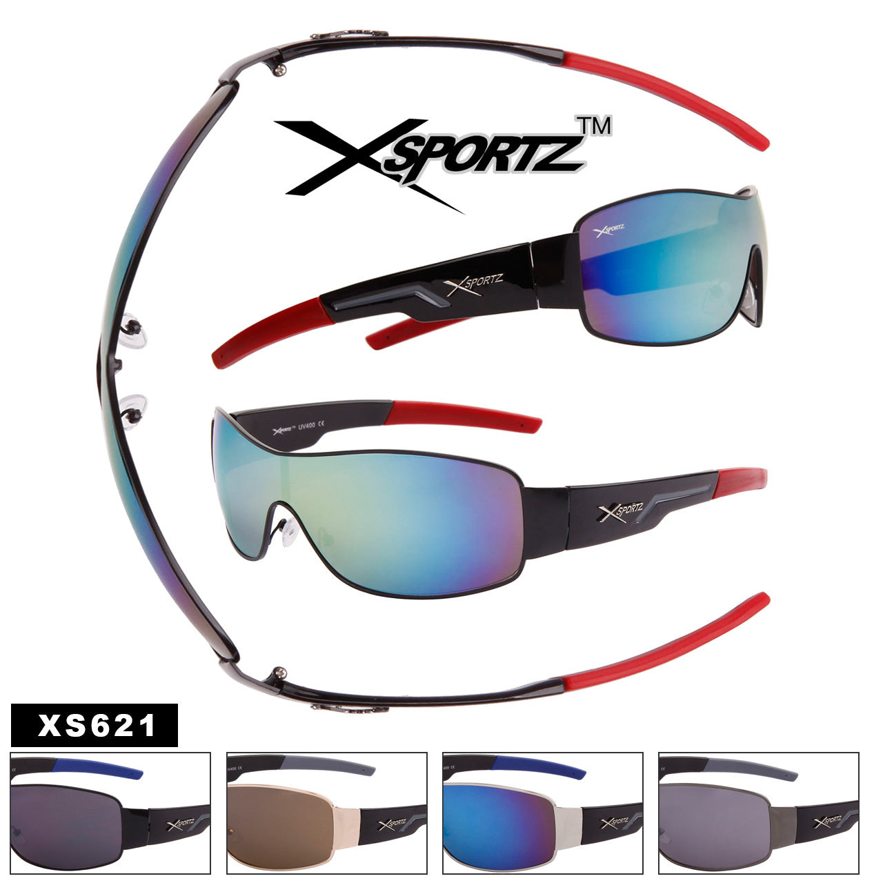 XS621 XSPORTZ™ Single Piece Lens - Amanda's Sunglasses and More