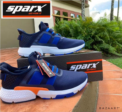 Sparx  Blue mesh running shoes