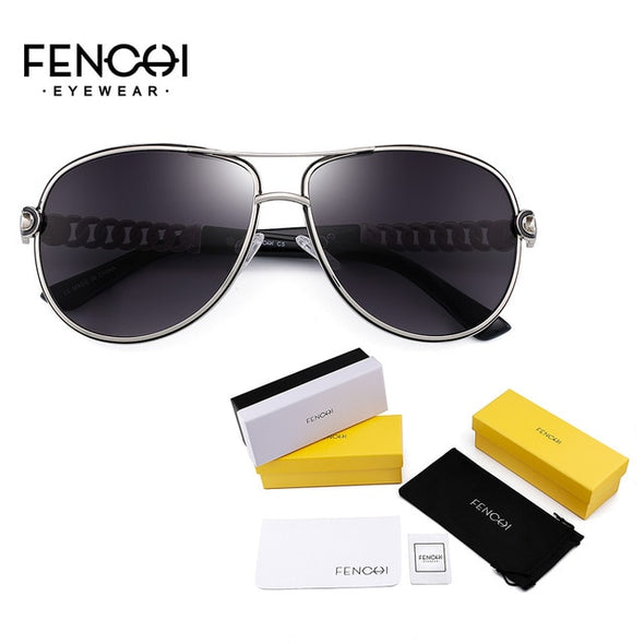 FENCHI Women's Vintage Mirror Rave Sunglasses - Amanda's Sunglasses and More