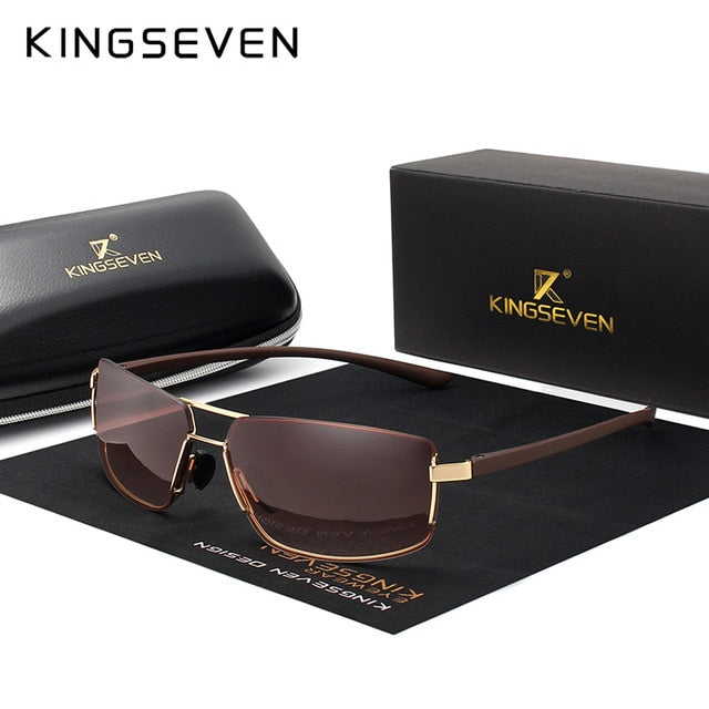 KINGSEVEN Polarized Square Frame Sunglasses - Amanda's Sunglasses and More