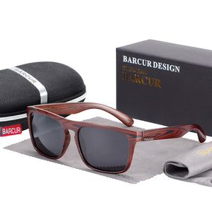 BARCUR Polarized Wood Sunglasses - Amanda's Sunglasses and More