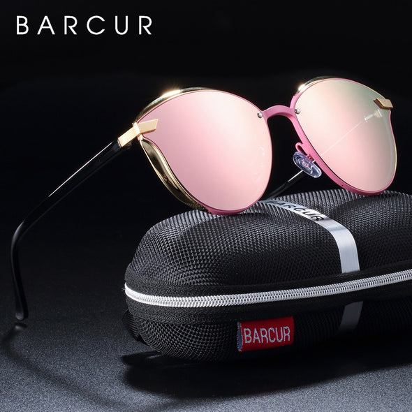 BARCUR Women's Polarized Round Sunglasses - Amanda's Sunglasses and More