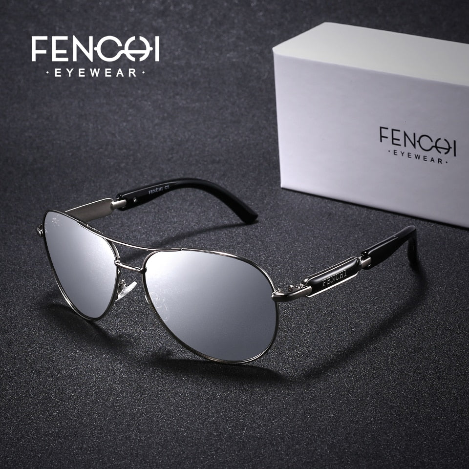 FENCHI Pink Pilot Mirror Polarized Women's Sunglasses - Amanda's Sunglasses and More