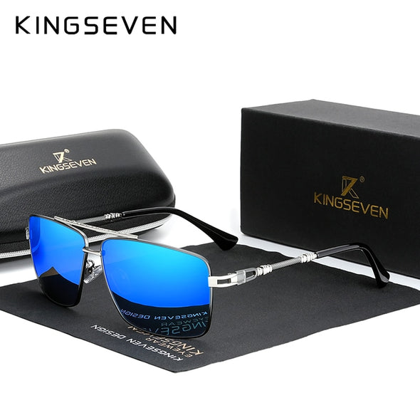 KINGSEVEN Polarized Square Design Men's Sunglasses - Amanda's Sunglasses and More