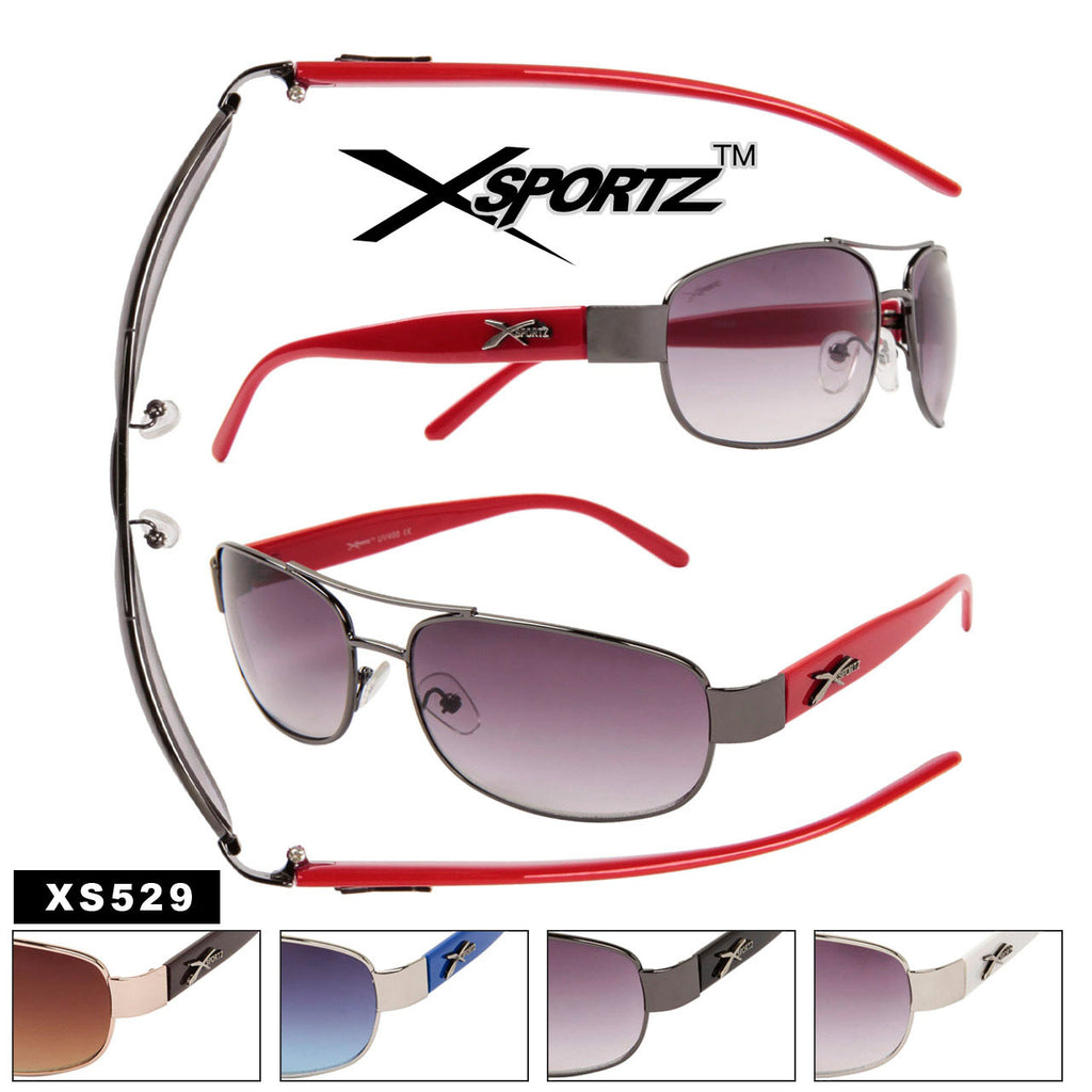 529 Xsportz Men's Rectangle Metal frame Sunglasses - Amanda's Sunglasses and More