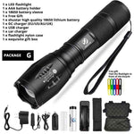 Led flashlight Ultra Bright torch waterproof Zoomable Bicycle Light