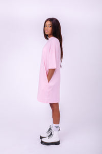 Clearly Ugly T-Shirt Dress Forever And Always Pastel Love with Pockets Maureen Ugodi