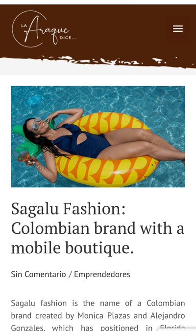 Sagalu Fashion: Colombian brand with a mobile boutique by Valeria Araque