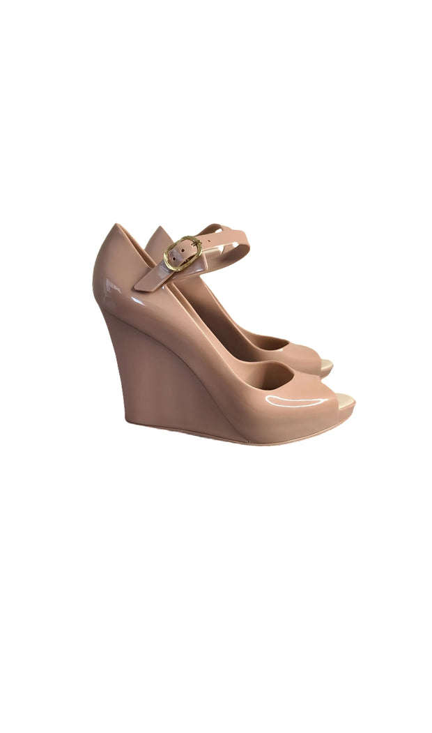 "Sags Wedges 4"" Nude"