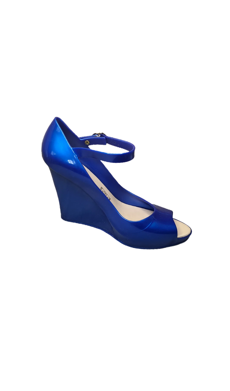 "Sags Wedges 4"" Metallic Blue"