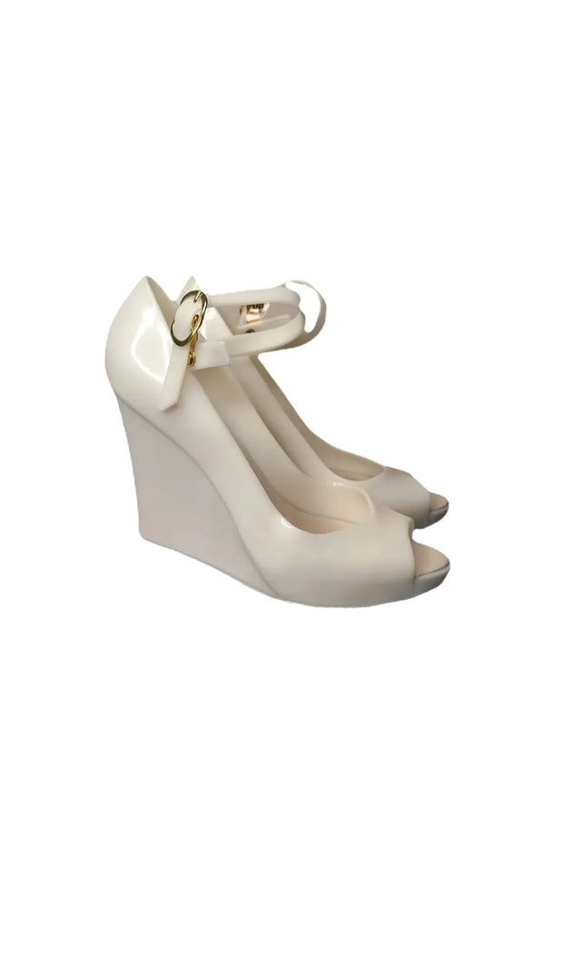 "Sags Wedges 4"" White Pearl"