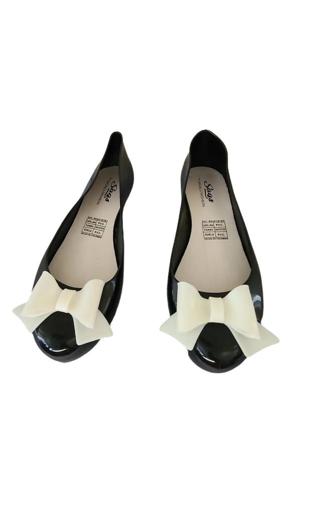 Sags Flats Black/White Bow