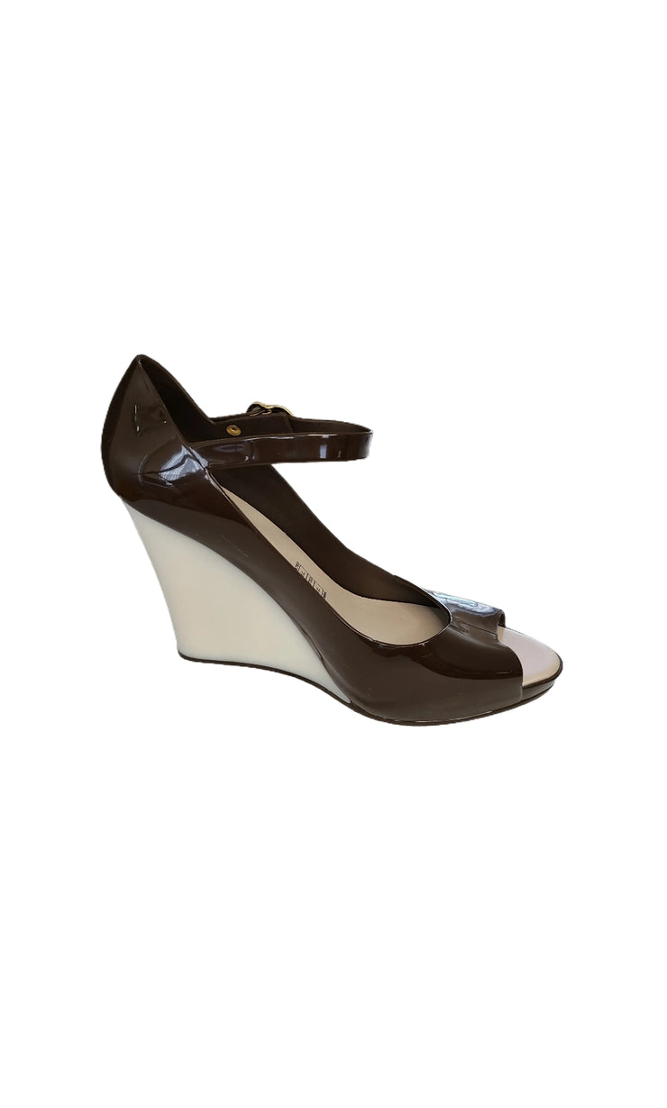 "Sags Wedges 4"" Brown with Pearl"