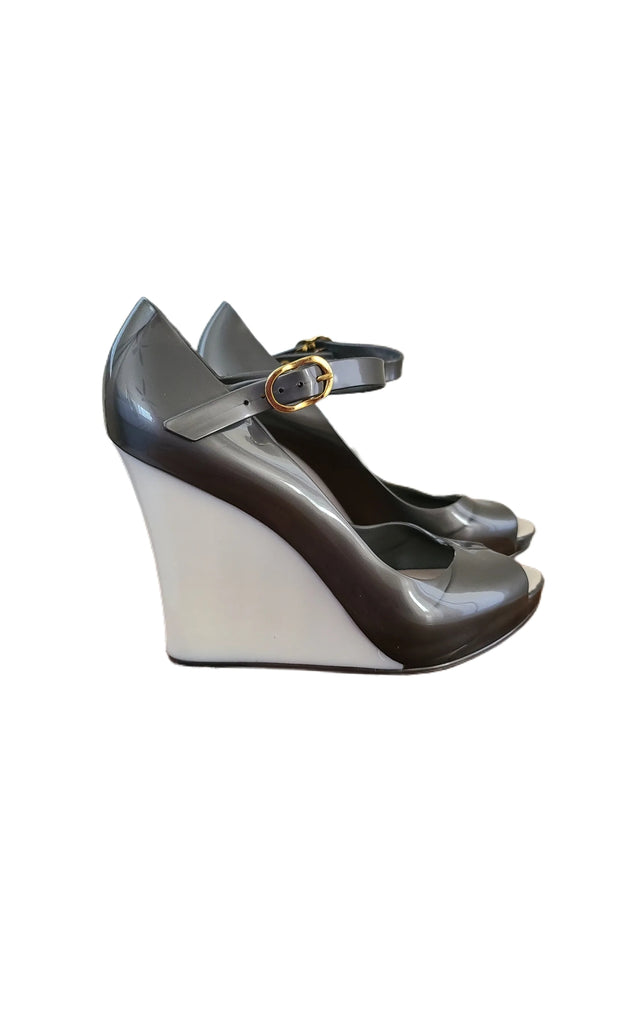 "Sags Wedges 4 "" Silvery and  Pearl"